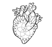 Crystal Heart Photographic Print