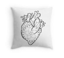 Crystal Heart Throw Pillow