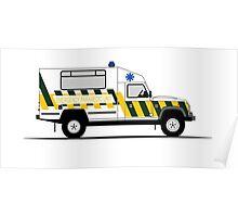 A Graphical Interpretation of the Defender 130 Single Cab Ambulance Poster