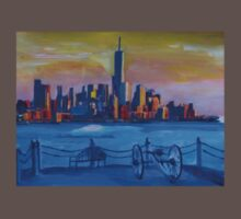 New York City Manhattan with Freedom Tower Skyline and Cannon Kids Clothes