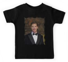 Benedict Cumberbatch - Oil Paint Art Kids Tee