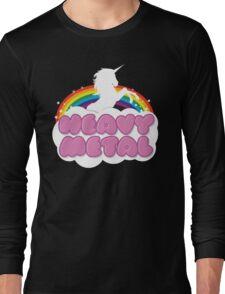 Heavy Metal Unicorn Rainbow  Long Sleeve T-Shirt