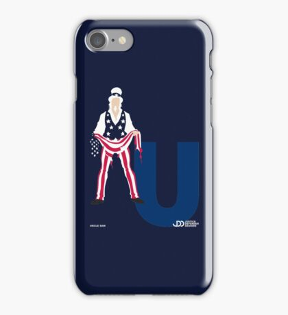 Uncle Sam - Superhero Minimalist Alphabet Clothing iPhone Case/Skin