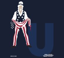 Uncle Sam - Superhero Minimalist Alphabet Clothing by justicedefender