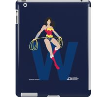 Wonder Woman - Superhero Minimalist Alphabet Clothing iPad Case/Skin