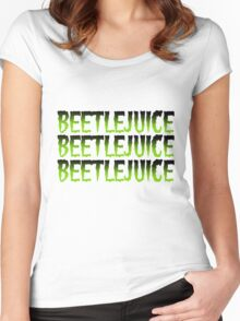 Beetlejuice! Beetlejuice! Beetlejuice! Green Women's Fitted Scoop T-Shirt
