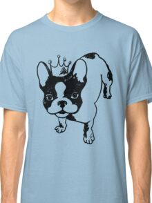 French bulldog with crown Classic T-Shirt