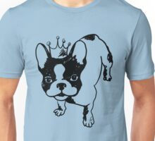 French bulldog with crown Unisex T-Shirt