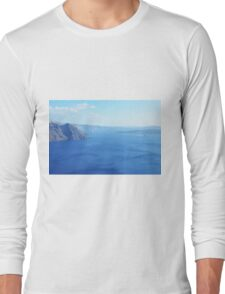 The Aegean sea in Santorini, Greece Long Sleeve T-Shirt