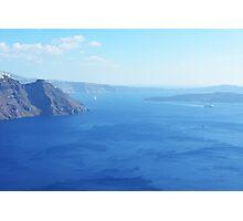 The Aegean sea in Santorini, Greece Photographic Print