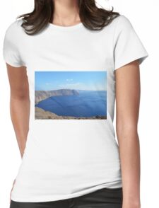 The Aegean sea in Santorini, Greece Womens Fitted T-Shirt