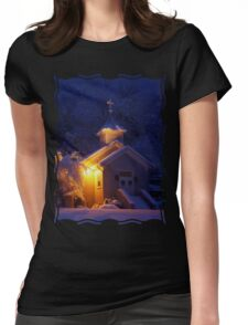 Sweet Home - Oil Paint Art Womens Fitted T-Shirt
