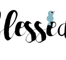 Blessed feather wreath Sticker