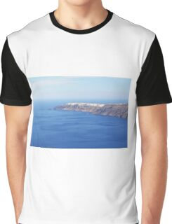 The Aegean sea in Santorini, Greece Graphic T-Shirt