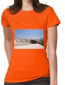 28 September 2016 View of white buildings in Santorini, Greece Womens Fitted T-Shirt