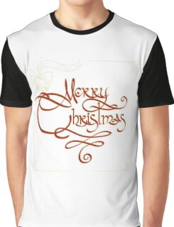 Merry Christmas Invitation Card Graphic T-Shirt