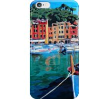 Tranquility in the Harbour of Portofino iPhone Case/Skin