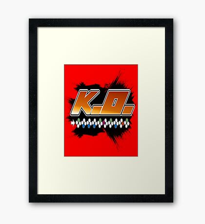 Knock Out 10 Hit Combo Framed Print