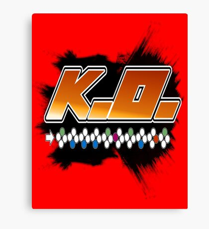 Knock Out 10 Hit Combo Canvas Print