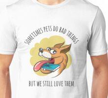 Dog Bites Cell Phone Unisex T-Shirt