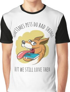 Dog Bites Cell Phone Graphic T-Shirt