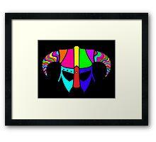 SKYRIM (RAINBOW) Framed Print