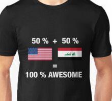 Half Iraqi Half American 100% Iraq Flag Unisex T-Shirt