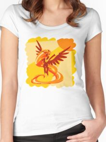 Sun Colours Women's Fitted Scoop T-Shirt