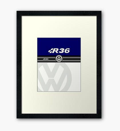 VW R36 Passat Framed Print