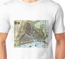 Vintage Map of Rotterdam Netherlands (1649) Unisex T-Shirt