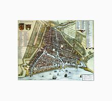 Vintage Map of Rotterdam Netherlands (1649) Unisex T-Shirt