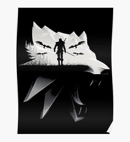 Geralt Medallion Poster