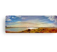 Across the Lake (Digital Art) Canvas Print