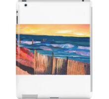Long Island Beach Scene - Hamptons South Fork Beach Walk with Fence iPad Case/Skin