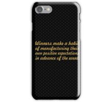 """Winners make a habit... """"Brian Tracy"""" Inspirational Quote iPhone Case/Skin"""