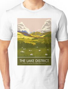 The Lake District, Helvellyn from Penruddock Unisex T-Shirt