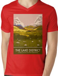 The Lake District, Helvellyn from Penruddock Mens V-Neck T-Shirt