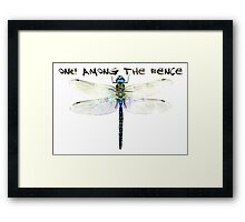One Among The Fence 2 Framed Print