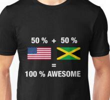 Half Jamaican Half American 100% Jamaica Flag Unisex T-Shirt