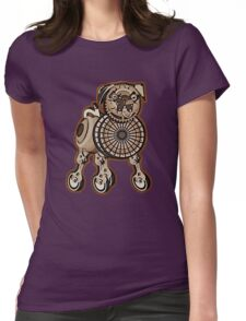Steampunk Pug Womens Fitted T-Shirt