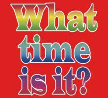 Fun Clock - What Time Is It? Kids Tee