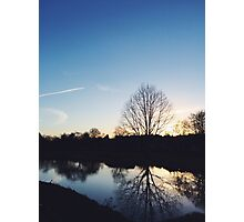 Sunset by a Lake Photographic Print