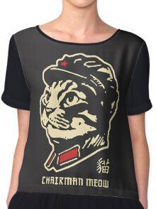 chairman meow Chiffon Top
