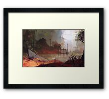 BOAT VILLAGE Framed Print