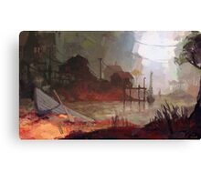 BOAT VILLAGE Canvas Print