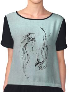 Fish Design Chiffon Top