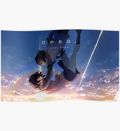 Mitsuha & Taki falling from the sky Poster