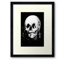 Woman with Halloween Skull Reflection In Mirror Framed Print