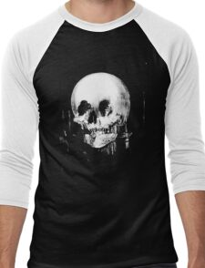 Woman with Halloween Skull Reflection In Mirror Men's Baseball ¾ T-Shirt
