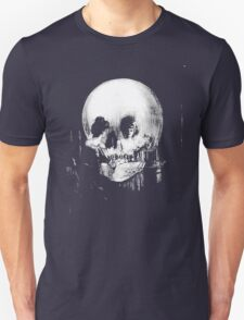 Woman with Halloween Skull Reflection In Mirror Unisex T-Shirt
